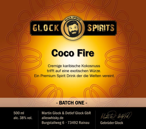 Glock Spirits Coco Fire Likör