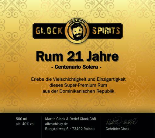 Glock Spirits Rum 21 Jahre